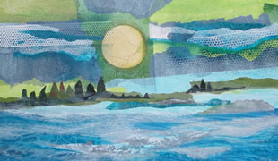 Lake, Shore, and Sky, Mixed Media 2009 Virginia Wieringa
